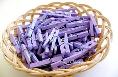 New Color 72  Mini Clothespin Lilac Flower by sugarcottonstudio.