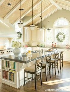 I love the light in this kitchen and the space!