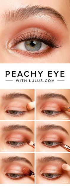 Peachy eye makeup -