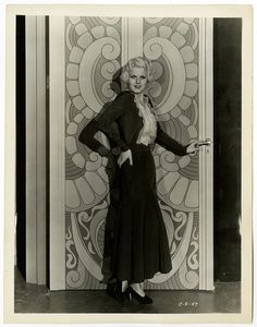Pre-Code 1932 Art Deco Blonde Bombshell Jean Harlow Vintage Glamour Photograph