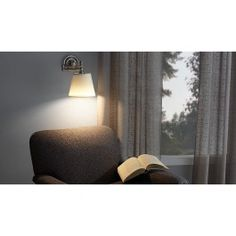 Illuminate your favorite reading nook in minutes. You can hang this LED Swing-Arm Reading Lamp as easily as a framed photo. Styled like a traditional wall lamp, it features 24 super-bright LED lights that glow like a 55-watt incandescent bulb. Operates with 3 D-cell batteries (not included). Perfect for localized lighting by a chair, over breakfast nook, or next to your bed. Swing arm adjusts to suit your space.