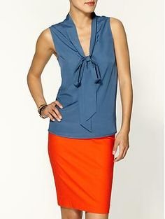 """Piperlime Sleeveless Tie Blouse by Tinley Road. Another """"perfect for work"""" shirt!"""