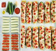 Zucchini Pizza Boats Recipe food cheese baking recipe recipes healthy recipes dinner recipes appetizer recipes food tutorials food tutorial