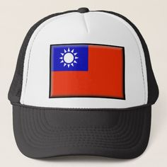 Shop Taiwan Flag Trucker Hat created by TaiwanStore. Taiwan Flag, Political Events, Custom Hats, Flags, Kids Outfits, Baseball Hats, Reusable Tote Bags, Baseball Caps, National Flag