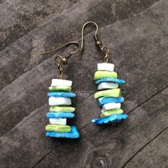 Stacked Shell Earrings by TripIntoLight on Etsy, $8.00