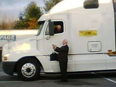 Pat in service at truck stop Recreational Vehicles, Trucks, Camper Van, Truck, Campers, Rv Camping, Cars