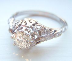 Fascinating Edwardian Wedding Ring With Edwardian Wedding 1.60ct Tw Diamond Band In 24k White Gold