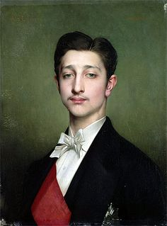 Portrait of Eugene-Louis-Napoleon Bonaparte, 1874  Artist: Jules Joseph Lefebvre  Location: Museum of Palace of Versailles Paris France