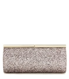 JIMMY CHOO Trinket glitter clutch. #jimmychoo #bags #leather #clutch #lining #hand bags #glitter #cotton #