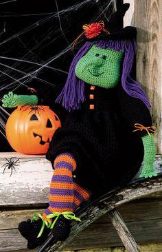 Leisure Arts - Tricksie The Witch Crochet Doll Pattern ePattern, $2.99 (http://www.leisurearts.com/products/tricksie-the-witch-crochet-doll-pattern-epattern.html)