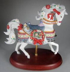 Carousel Statues: Lenox 2001 Annual Christmas Carousel Horse