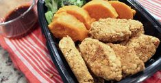 Chickpea Tenders With Flaxseeds - Center for Nutrition Studies Plant Based Whole Foods, Plant Based Eating, Plant Based Recipes, Vegan Dishes, Food Dishes, Main Dishes, Convenience Food, Kids Nutrition, Appetizers For Party