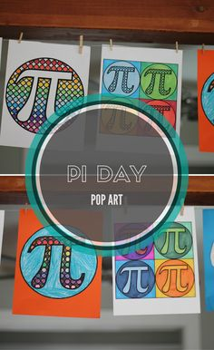 Pi Day Pop Art - combines circles and pi in a variety of ways! Middle School Activities, Fun Math Activities, Math Resources, Math Games, Classroom Resources, Numero Pi, 7th Grade Math, Fourth Grade, Second Grade