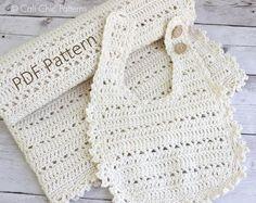 Bib and Blanket set Blossom crochet pattern
