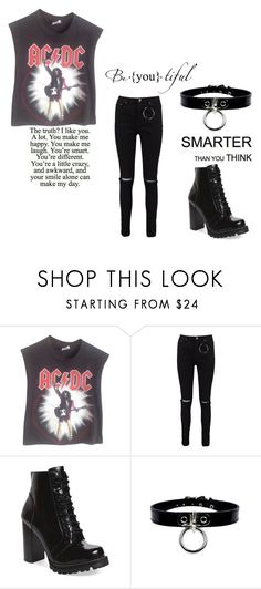 """Thoughts of you that rock my head"" by cherrysick ❤ liked on Polyvore featuring Vintage, Boohoo and Jeffrey Campbell"