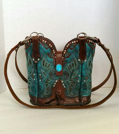 Double  cowboy boot purse, handcrafted by Stagecoach Bags, www.stagecoachbags.com