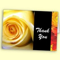 Thank you note cards with yellow rose accents makes for an elegant thank you note.
