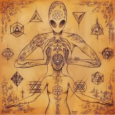 Reiki, crystal healing, chakra balancing E v e r y t h i n g is connected All info on our website Aliens And Ufos, Ancient Aliens, Psychedelic Art, Alien Aesthetic, Alien Tattoo, Alien Concept Art, Hippie Art, Visionary Art, Surreal Art