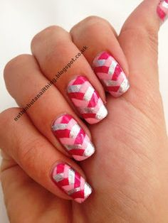 Pink Fishtail Manicure..maybe just two nails