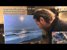"Igor Sakharov: painting video lesson ""moonlight"" in English - YouTube"