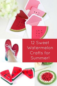 Watermelon makes me think of summer! Get creative with one of these 12 inspirational DIY watermelon crafts - so fun and festive! Fun for adults or for teens.