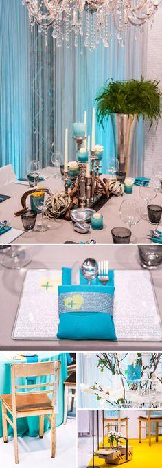 Türkisfarbene vintage Dekorationen von Blickfang Event Design