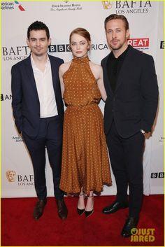Emma Stone & Ryan Gosling Bring 'La La Land' to the BAFTA Tea Party
