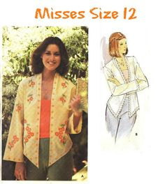 MISSES' SIZE 12 VINTAGE Light Jacket Sewing Pattern and Embroidery Transfer - Vintage 80's Butterick 5436 - Hi-Lo Hem, Very Gently Used Childrens Sewing Patterns, Vintage Sewing Patterns, Owning A Cat, Embroidery Transfers, Fairy Dust, Etsy Shipping, Love Sewing, Light Jacket, Sewing Notions