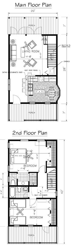 nice simple plan just turn the kitchen for a bigger dining room shotgun housetiny house designsmall house planscottage floor