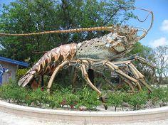 giant lobster sculpture