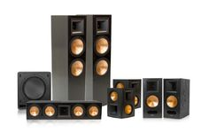 This bundle includes:(2) Klipsch RF-7 II Reference Series Tower Speakers (Black)(2) Klipsch RS-62 II Reference Series Surround Speakers (Black)(1) Klipsch RC-64 II Reference Series Center Channel Speaker (Black)(1) Klipsch RB-81 II Reference Series Bookshelf Speaker - pair (Black)(1) Klipsch SW-110 Subwoofer (Black) Movies and music will sound just as they were intended to - no matter the room type or size - with the power, detail and emotion of Klipsch Reference II sound.