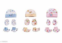 Checkout this latest Caps Product Name: *Imported New Born Baby  Cap Mitten And Botties Age Group (0-6months)* Imported New Born Baby  Cap Mitten And Botties Age Group (0-6months) Country of Origin: India Easy Returns Available In Case Of Any Issue   Catalog Rating: ★4.1 (615)  Catalog Name: Check out this trending catalog CatalogID_2248344 C63-SC1195 Code: 363-11849013-678