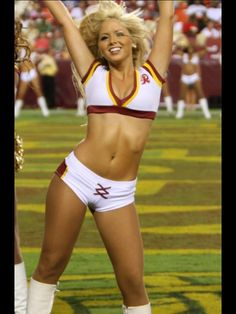 Redskins cheerleaders big butt was