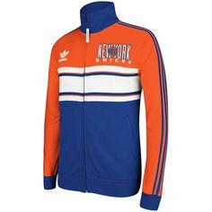 adidas New York Knicks 2013 Court Series Full Zip Track Jacket - Orange/Royal Blue