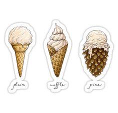 Ice-Cream Cones by Mariya Olshevska