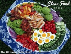Ultimate Cobb Salad Recipe http://cleanfoodcrush.com/ultimate-cobb-salad