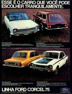Anúncio Linha Ford Corcel 75 - 1974