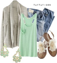 """easy, breezy, & minty"" by taytay-268 on Polyvore"