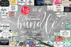 Creative Market Bundles are always such a rediculious deal. I love the Tropical Nights font! Bundle of Fonts and Graphics Off by Creativeqube Design on Affiliate Font Design, Design Typography, Web Design, Design Art, Watercolor Design, Watercolor Pattern, Typeface Font, Script Fonts, Calligraphy Fonts