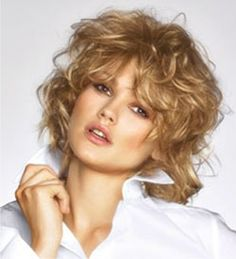 Curly SHAG- Haircut .... Very Light and Mid Toned - Golden  Highlights - Hair Color