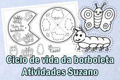 Ciclo de vida da Borboleta EM PDF | Atividades Pedagogica Suzano