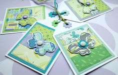 Little Butterflies Gift Tags Lilac Teal by CraftyMushroomCards, £3.75