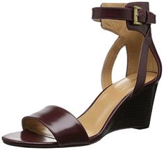 Nine West Women's Nobody Leather Wedge Sandal, Dark Red, 11 M US Nine West http://www.amazon.com/dp/B014EBSMWI/ref=cm_sw_r_pi_dp_JFjBwb1NGHCGD