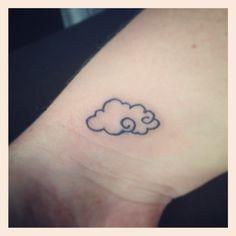 My first tattoo <3 I absolutely love it #Tattoo #Cloud #TinyTattoo