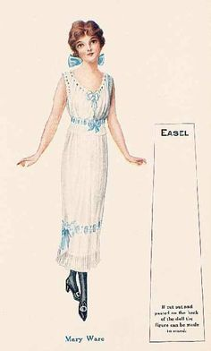 Image detail for -... paper doll c 1915 was one of many treasures at the theriault s auction