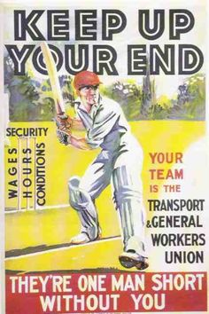 When cricket was still a route to the workingman's heart.
