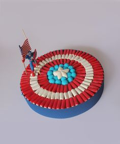 Tarta chuches Capitán América.