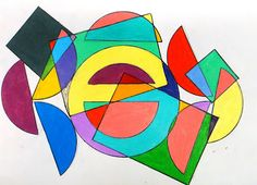 For the Love of Art: Frank Stella Protractor Series (blog also has art inspired by other artists and is searchable by grade)