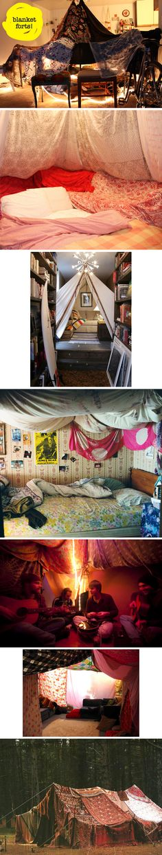 Blanket forts. Some of the best memories of our childhood
