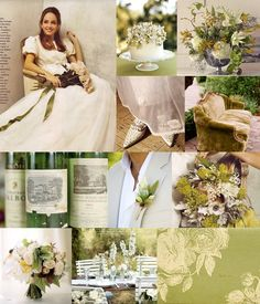 "Inspiration Board  ""Old-Fashioned Garden Romance"""